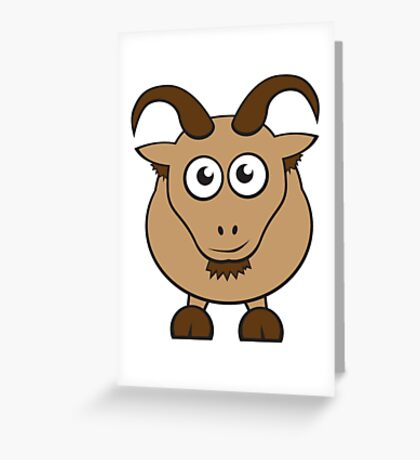 Grover The Goat in Brown Greeting Card