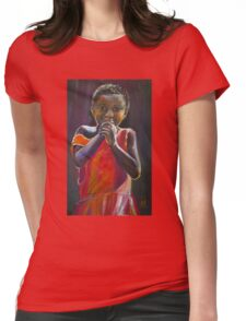 Red Dress Womens Fitted T-Shirt