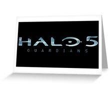 Halo 5 Guardians Logo Greeting Card