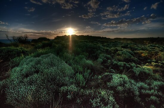 Twilights Last Gleaming - Loch Ard Gorge - Great Ocean Road - The HDR Experience by Philip Johnson