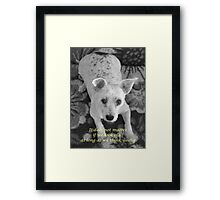 Think young Framed Print