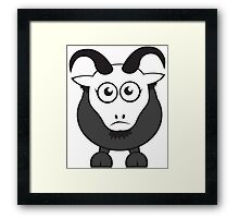 Grover The Goat in Grey Framed Print