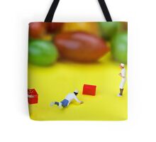 Chef Tumbled In Front Of Colorful Tomatoes miniature art Tote Bag