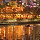 Melbourne by Night by aussiedi