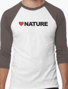 Love Nature Men's Baseball ¾ T-Shirt
