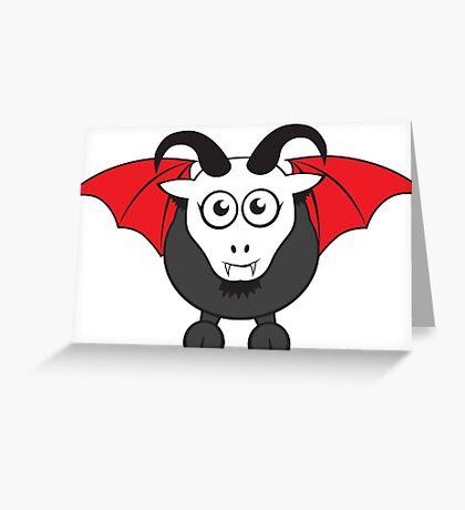Vampire Grover Goat Greeting Card