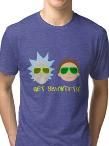 Rick and Morty - Get Schwifty Tri-blend T-Shirt
