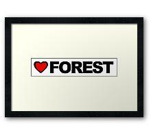 Love Forest Framed Print