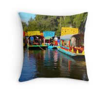 Xochimilco's Floating Gardens in Mexico City Throw Pillow