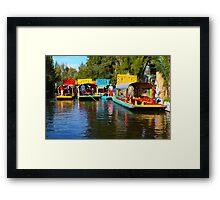Xochimilco's Floating Gardens in Mexico City Framed Print