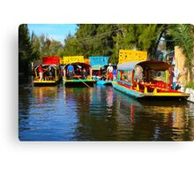 Xochimilco's Floating Gardens in Mexico City Canvas Print