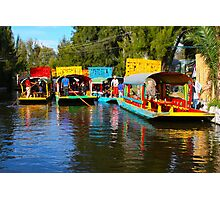 Xochimilco's Floating Gardens in Mexico City Photographic Print