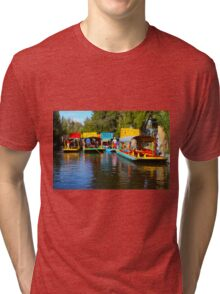 Xochimilco's Floating Gardens in Mexico City Tri-blend T-Shirt