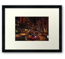 San Antonio Riverwalk in December Framed Print