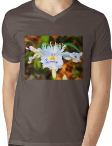 A wild orchid in a field Mens V-Neck T-Shirt