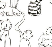 Cats in da house  Sticker