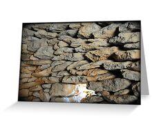 stone walls Greeting Card