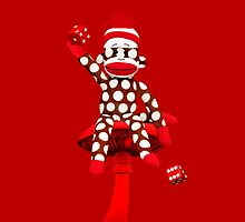 POKA DOT-SOCK MONKEY TROWING DICE-PILLOWS-JOURNAL-TOTE BAG-MUG-BOOKS-TEE SHIRT-ECT.. by ✿✿ Bonita ✿✿ ђєℓℓσ