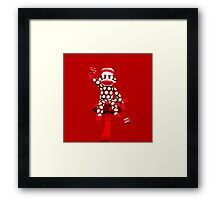 POKA DOT-SOCK MONKEY TROWING DICE-PILLOWS-JOURNAL-TOTE BAG-MUG-BOOKS-TEE SHIRT-ECT.. Framed Print
