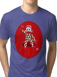 POKA DOT-SOCK MONKEY TROWING DICE-PILLOWS-JOURNAL-TOTE BAG-MUG-BOOKS-TEE SHIRT-ECT.. Tri-blend T-Shirt