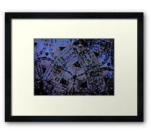 March Of The Red Demigods - A Study in Blue. Framed Print