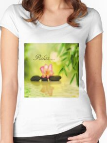 Relax 2 Women's Fitted Scoop T-Shirt