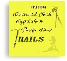 Triple Crown Of Hiking Canvas Print