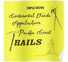 Triple Crown Of Hiking Poster