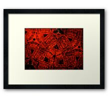 March Of The Red Demigods Framed Print
