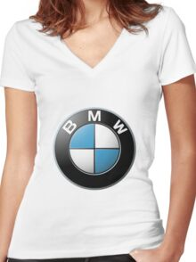 Bmw Women's Fitted V-Neck T-Shirt