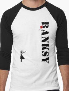 Banksy - litte girl, red balloon Men's Baseball ¾ T-Shirt
