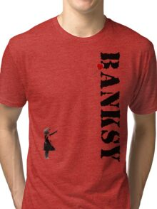 Banksy - litte girl, red balloon Tri-blend T-Shirt