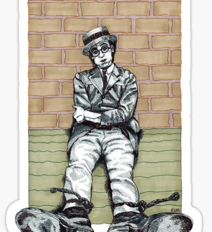 Harold Lloyd One of Those Days Drawing Sticker