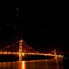 San Francisco Golden Gate Bridge Under the Stars by j ellis