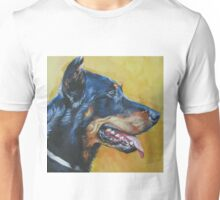 Beauceron Fine Art Painting Unisex T-Shirt