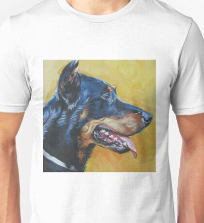 Beauceron Fine Art Painting Unisex T-Shirt