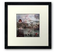 The thread between nothingness and eternity Framed Print