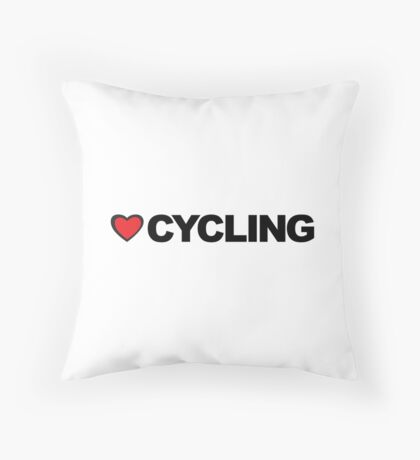Love Cycling Throw Pillow