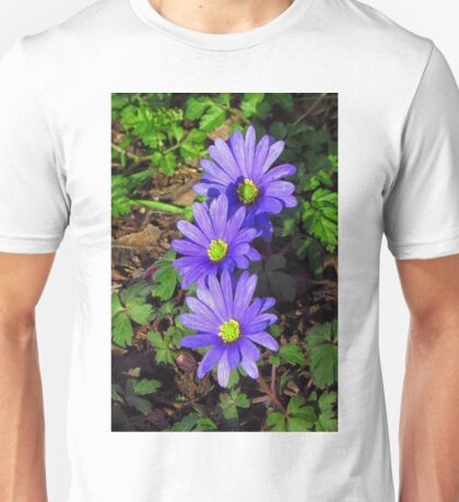 A trio of wood anemones Unisex T-Shirt