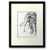 Figure corn cob Framed Print