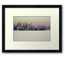"""WINTER GLADE"" Framed Print"