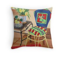 Moo Cow Chair Throw Pillow