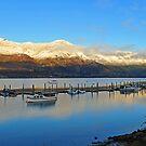 Wanaka at dawn. South Island, New Zealand. by Ralph de Zilva