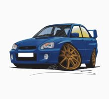 Subaru Impreza (2003-06) Blue One Piece - Short Sleeve
