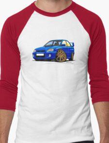 Subaru Impreza (2003-06) Blue Men's Baseball ¾ T-Shirt