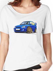 Subaru Impreza (2003-06) Blue Women's Relaxed Fit T-Shirt