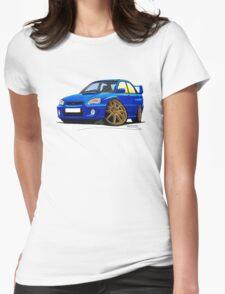 Subaru Impreza (2003-06) Blue Womens Fitted T-Shirt
