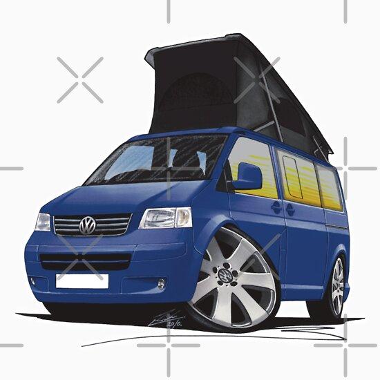 Volkswagen T5 California Camper Van Blue quot Stickers by Richard