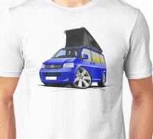 Volkswagen T5 California Camper Van Blue Unisex T-Shirt