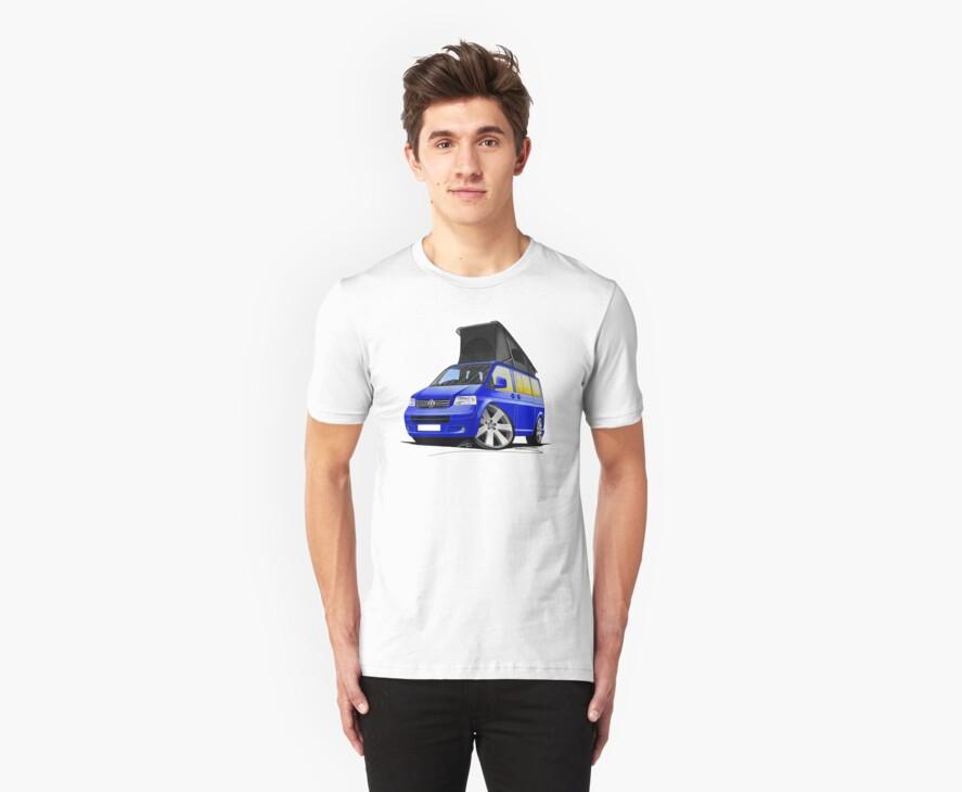 Volkswagen T5 California Camper Van Blue by Richard Yeomans